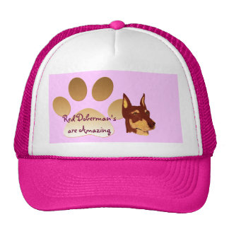 Red Doberman Pinschers are Amazing Mesh Hats