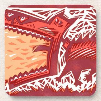 Red Dog Drink Coaster