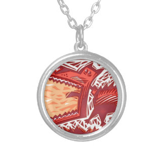 Red Dog Silver Plated Necklace