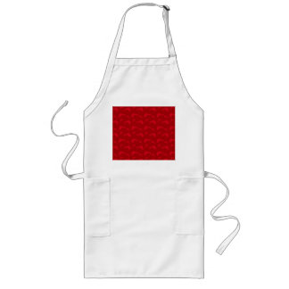 Red dolphin pattern apron