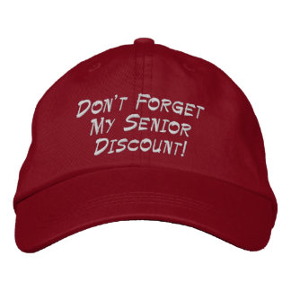 Red Don't Forget My Senior Discount! Cap Baseball Cap