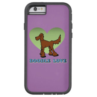 Red Doodle Love Phone Case