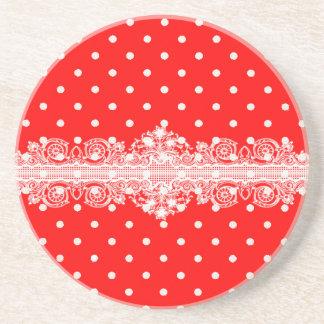Red dot coaster