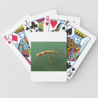 Red Dot Fishing Lure Bicycle Playing Cards