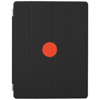 Red dot with black backgroud - geometric design iPad cover