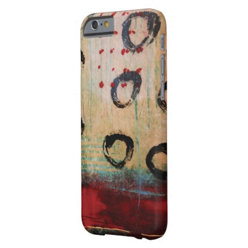 Red Dots & Circles Painterly iPhone 6 Cover iPhone 6 Case