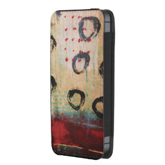 Red Dots & Circles Painterly Smartphone Pouch
