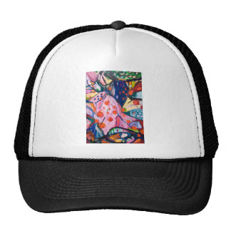 Red Dots (fabric expressionism) Hat