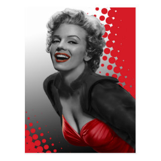 Red Dots Marilyn Postcard