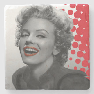 Red Dots Marilyn Stone Coaster