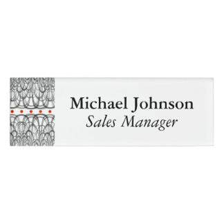 Red dots name tag