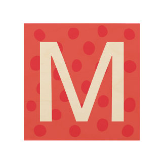 Red Dots with Initial Letter Kids' Room Decor