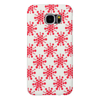 Red dottes stars on white samsung galaxy s6 cases