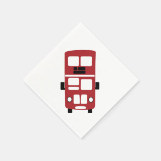 Red double decker bus Cocktail Napkin Paper Napkin