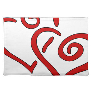 Red Double Heart Placemat