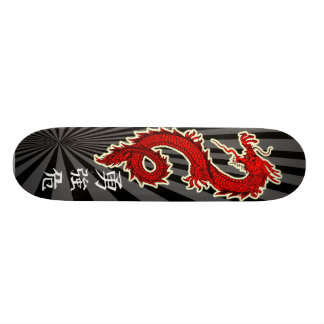 Red Dragon 18.1 Cm Old School Skateboard Deck