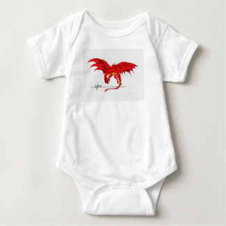 Red dragon baby body suit baby bodysuit