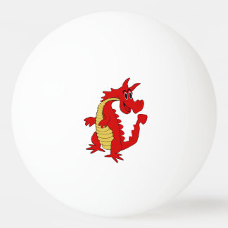 Red Dragon Design Ping Pong Ball