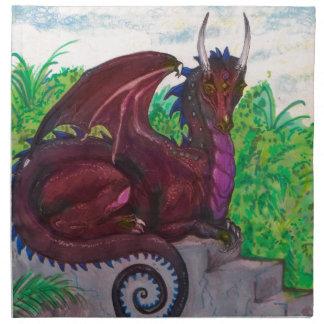Red Dragon Dragoness Crimson Fantasy Monster Napkin