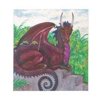Red Dragon Dragoness Crimson Fantasy Monster Notepad