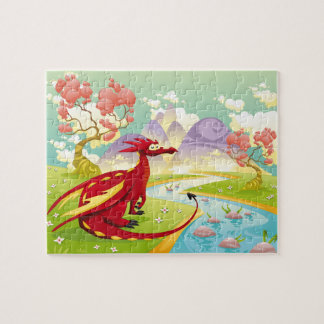 Red Dragon Dreamscape 8x10 Jigsaw Puzzle