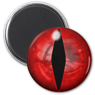 Red Dragon Eye 6 Cm Round Magnet