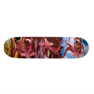 Red Dragon Fantasy Skateboard