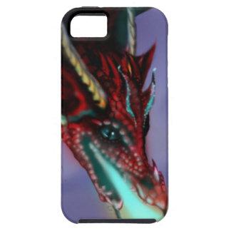 Red Dragon Fire Flames Magic Cute Crimson iPhone 5 Case