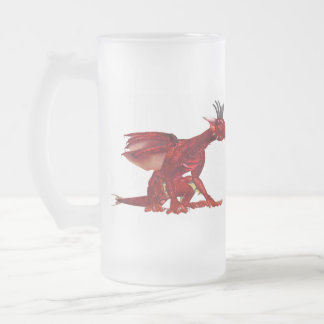 Red Dragon  Frosted Beer Mug