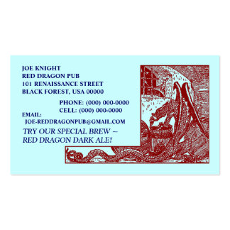 RED DRAGON IN DUNGEON CONTACT/BUSINESS CARDS!