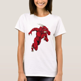 Red dragon mascot sprinting T-Shirt