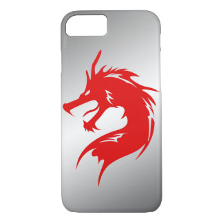 Red Dragon Metal Background iPhone 7 Case
