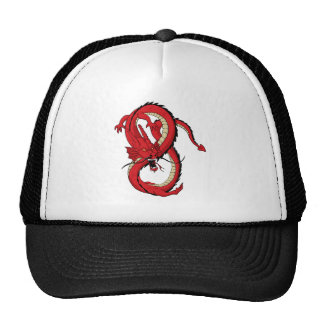 Red dragon MMA style design Trucker Hats