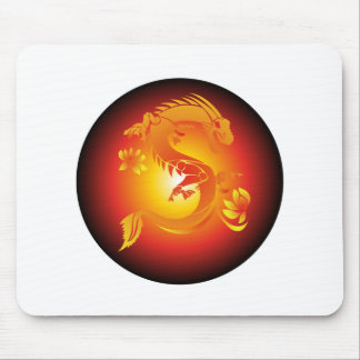 Red Dragon Mouse Pads