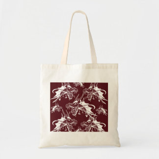 Red Dragon Mythical Creature Cool Fantasy Design Tote Bag