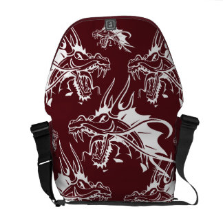 Red Dragon Mythical Creature Cool Fantasy Design Commuter Bag