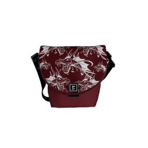 Red Dragon Mythical Creature Cool Fantasy Design Courier Bag