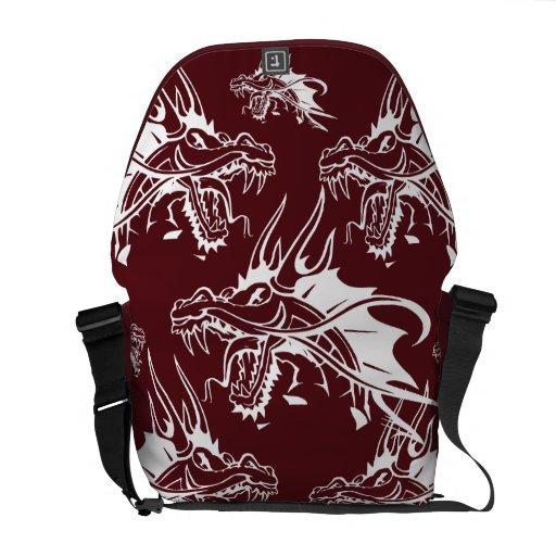 Red Dragon Mythical Creature Cool Fantasy Design Messenger Bag