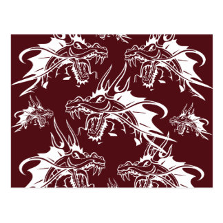 Red Dragon Mythical Creature Cool Fantasy Design Postcard