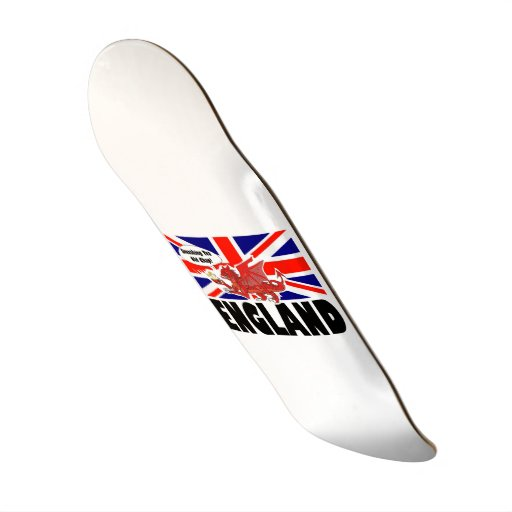 Red Dragon of England in Tea Time Skateboard