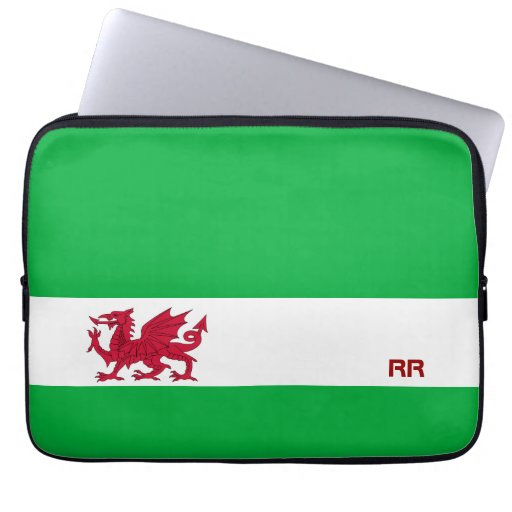Red Dragon of Wales on White Green Flag Colour Bag : Zazzle