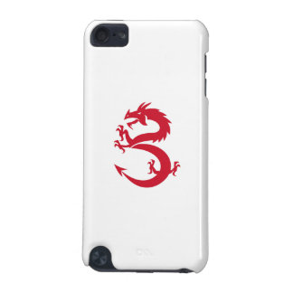 Red Dragon Prancing Silhouette Retro iPod Touch 5G Cases