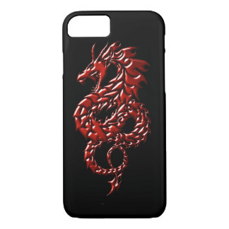 Red Dragon Rising Black iPhone 7 Cell Phone Case