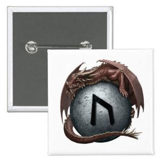Red Dragon Rune Button - Uruz