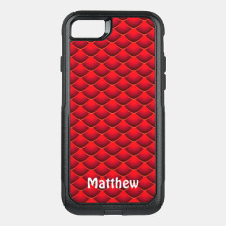 Red Dragon Scales Personalized Green Phone Case