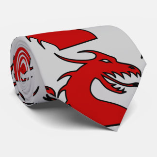 Red Dragon Silhouette Tie
