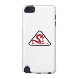 Red Dragon Silhouette Triangle Retro iPod Touch 5G Case