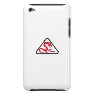Red Dragon Silhouette Triangle Retro iPod Touch Cases