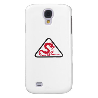 Red Dragon Silhouette Triangle Retro Samsung Galaxy S4 Case