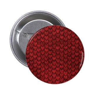 Red Dragon Skin 6 Cm Round Badge